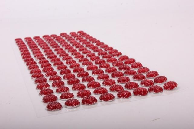 Стразы на листе красные  12мм  144 шт  DZ639  1286