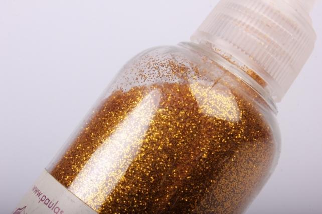 Блестки цветные  Золото темное 80гр. в тубе  (PL)  КВ204