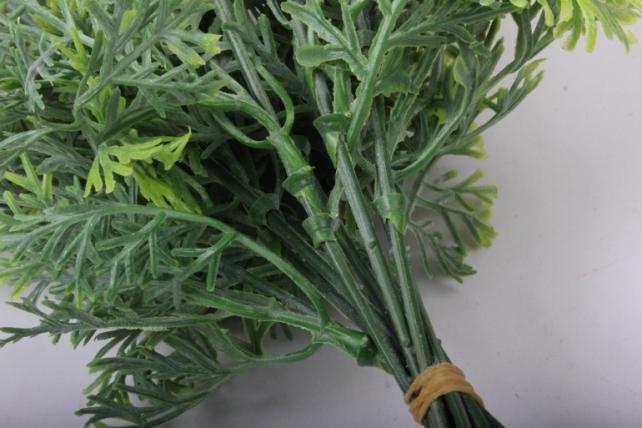 Искусственное растение-Веточки зеленые с цветочком 20см  (10шт в уп)  GAP236  5911