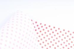"""Бумага  Дизайеская БЕЛЫЙ крафт """"Бисер красный"""" 70см*10м  40г/м2  (М)   Р913"""