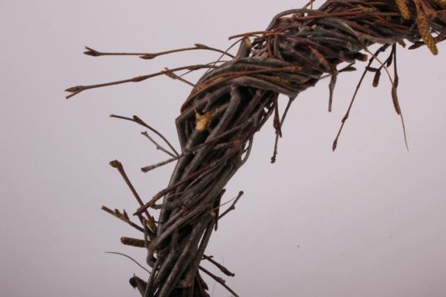 Венок плетеный из веток 25см