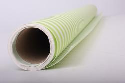 Бумага  КРАФТ  Салатовая полоска   (70см*10м) К