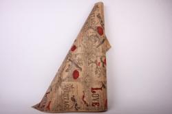 Бумага  КРАФТ  Винтаж на коричневом   (70см*10м) К