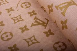 Бумага  КРАФТ  LV на коричневом   (70см*10м) К