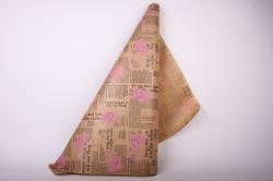 Бумага  КРАФТ  Розовые розы   (70см*10м) К