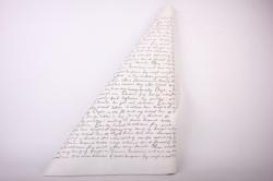 Бумага  КРАФТ  Буквы на белом   (70см*10м) К