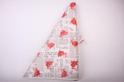 Бумага  КРАФТ  Красные розы на белом   (70см*10м) К
