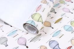 Бумага ГЛЯНЕЦ  Воздушные шары 0,7*1м (10 лист.) 78г/м2  М  GP0005