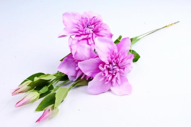 Искусственное растение - Клематис лиловый   (3 шт в уп)  SUN540