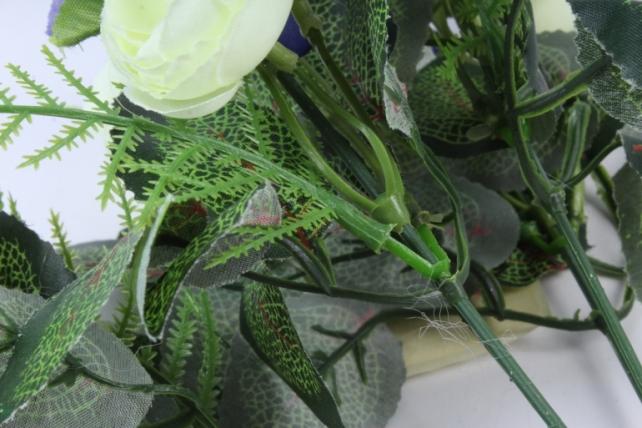Искусственное растение - Ранункулюс сине/белый
