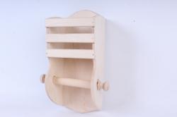 Деревянная заготовка - Держатель для туалетной бумаги с полкой