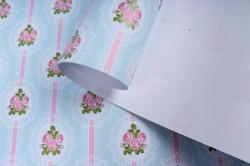 Бумага  ГЛЯНЕЦ 100/357 Цветочные виньетки  68*98см (10 лист.)