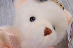 05 Медведь для букетов (ПЕРСИКОВОЕ платье)