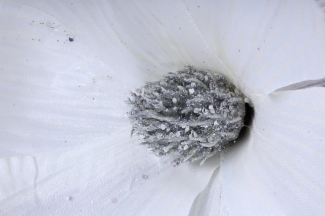 Магнолия ЦВЕТОК-бутон Белый с блестками (3шт в уп)  FME071722