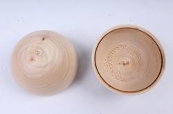 деревянная заготовка - шкатулка шар 50мм