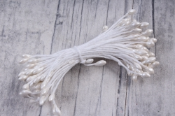 Тычинки фоам белые 3 мм (155 шт)