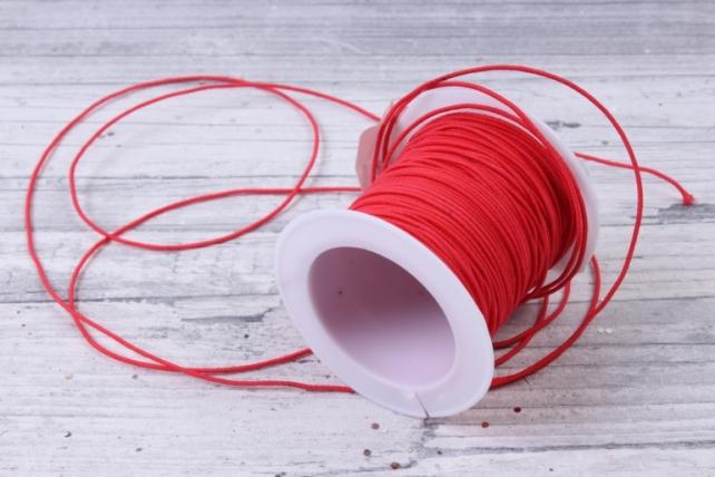 Шнур-резинка  на катушке Красный