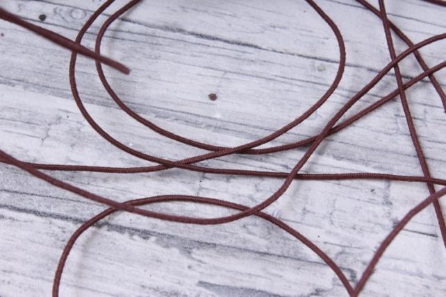 Шнур-резинка  на катушке Коричневый
