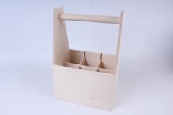 деревянная заготовка - ящик под 6 бутылок пива с разделителями