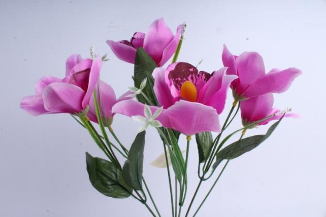 Искусственное растение - Орхидея букет сиреневая