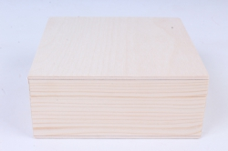 деревянная заготовка - шкатулка 120*120*50мм (сосна)