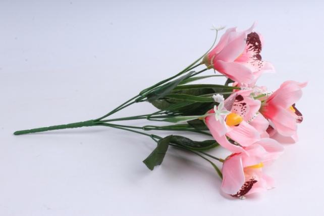 Искусственное растение - Орхидея букет розовая