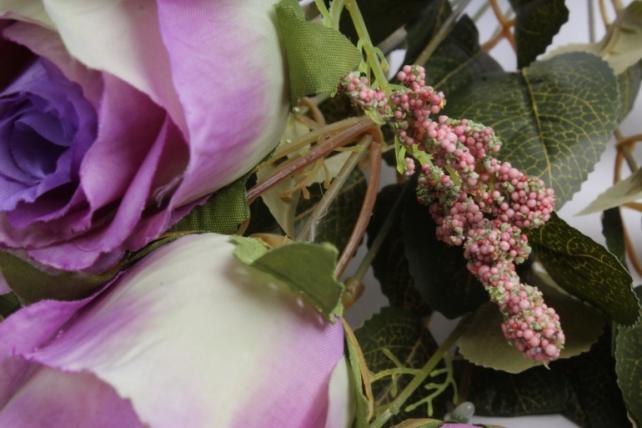 Искусственное растение - Розы ретро Акварель сиреневый/салатовый