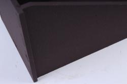 """Кашпо """"Конверт"""" малый, с полоской  МДФ-3мм, 1 шт., окраш. коричнево-беж  ПУ350-02-1728"""