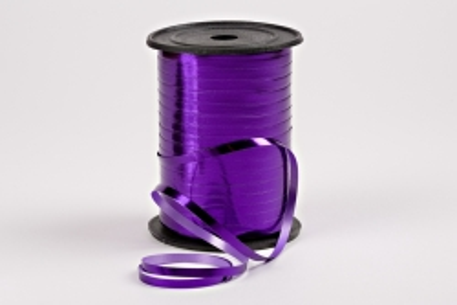 Подарочная Декоративная Лента металлизированная - 0.5х250y Фиолетовая М0595