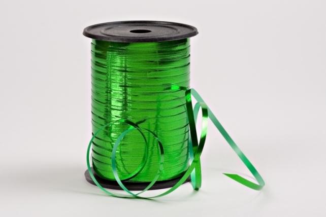 Подарочная Декоративная Лента металлизированная -  0.5х250y Зелёная М0596