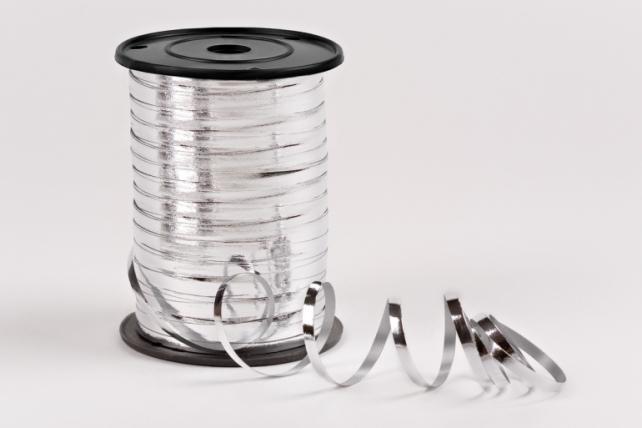 Подарочная Декоративная Лента металлизированная - 0.5х250y Серебристая М0599