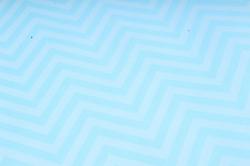 "Бумага цветной Крафт (Б) ""Зигзаг"" Белая на бирюзе 60гр/кв.м (60см*10м)"