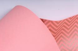 "Бумага цветной Крафт (Б) ""Зигзаг"" Бронза на розовом 60гр/кв.м (60см*10м)"