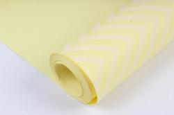 "Бумага цветной Крафт (Б) ""Зигзаг"" Белый на желтом 60гр/кв.м (60см*10м)"