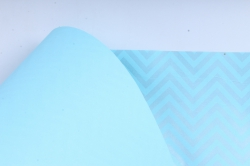 "Бумага цветной Крафт (Б) ""Зигзаг"" Серебро на бирюзе 60гр/кв.м (60см*10м)"