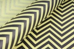"""Бумага цветной Крафт (Б) """"Зигзаг"""" Черный на желтом 60гр/кв.м (60см*10м)"""