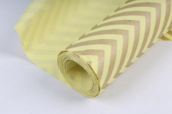 "Бумага цветной Крафт (Б) ""Зигзаг"" Бронза на желтом 60гр/кв.м (60см*10м)"
