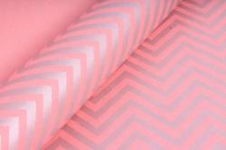 "Бумага цветной Крафт (Б) ""Зигзаг"" Серебро на розовом 60гр/кв.м (60см*10м)"