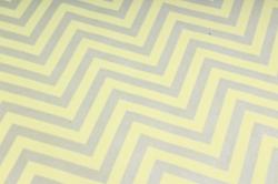 "Бумага цветной Крафт (Б) ""Зигзаг"" Серебро на желтом 60гр/кв.м (60см*10м)"