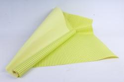 """Бумага цветной Крафт (Б) """"Полоска малая"""" Салатовый на желтом 60гр/кв.м (60см*10м)"""