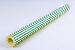 """Бумага цветной Крафт (Б) """"Полоска малая"""" Синий на желтом 60гр/кв.м (60см*10м)"""