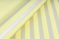 """Бумага цветной Крафт (Б) """"Полоска большая"""" Серебро на желтом 60гр/кв.м (60см*10м)"""