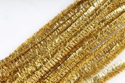 Скрутики Золотые металл 30 см(20 шт в уп) WYCIORY M7 S20