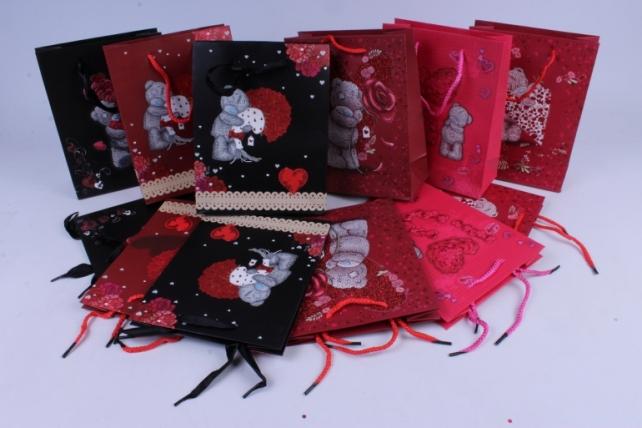 Подарочные пакеты - Сумки Люкс (Мишки Тэдди) 18х8х23 микс цена за 1шт. - код 28L