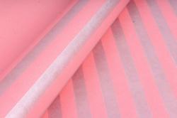 """Бумага цветной Крафт (Б) """"Полоска большая"""" Серебро на розовом 60гр/кв.м (60см*10м)"""