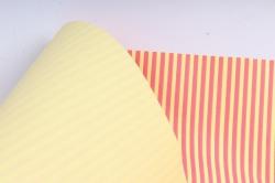 """Бумага цветной Крафт (Б) """"Полоска малая"""" Малина на желтом 60гр/кв.м (60см*10м)"""