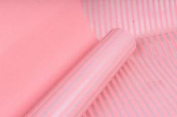 """Бумага цветной Крафт (Б) """"Полоска малая"""" Серебро на розовом 60гр/кв.м (60см*10м)"""