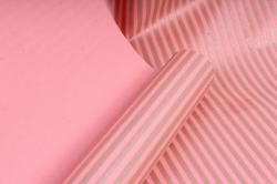 """Бумага цветной Крафт (Б) """"Полоска малая"""" Бронза на розовом 60гр/кв.м (60см*10м)"""