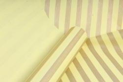 """Бумага цветной Крафт (Б) """"Полоска большая"""" Бронза на желтом 60гр/кв.м (60см*10м)"""