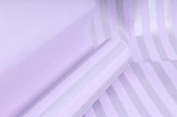 """Бумага цветной Крафт (Б) """"Полоска большая"""" Серебро на сиреневом 60гр/кв.м (60см*10м)"""